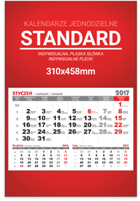StudioKalendarzy.pl - kalendarze jednodzielne standard