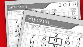 Kalendarze jednodzielne - praktyczne i furnkcjonalne