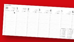 Indywidualne kalendarze biurkowe z zadrukiem