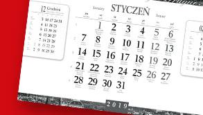 Kalendarze wieloplanszowe ścienne na zamówienie