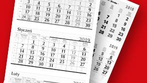 Kalendarze trójdzielne na indywidualne zamówienie