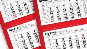 Kalendarze trójdzielne z logo firmy
