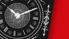 Kalendarze trójdzielne z zegarem