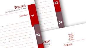 Funkcjonalne kalendarze książkowe
