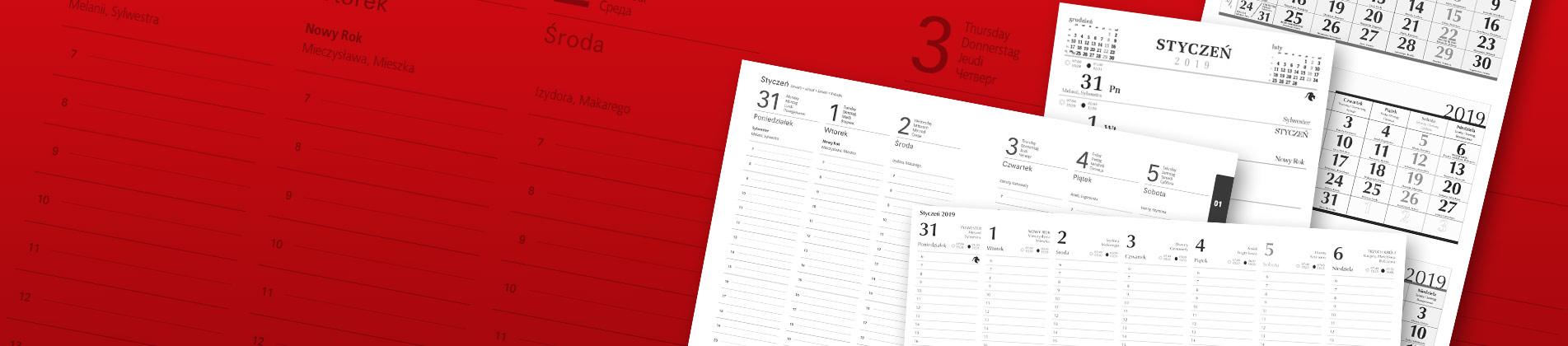 Projektowanie kalendarzy i notesów na zamówienie