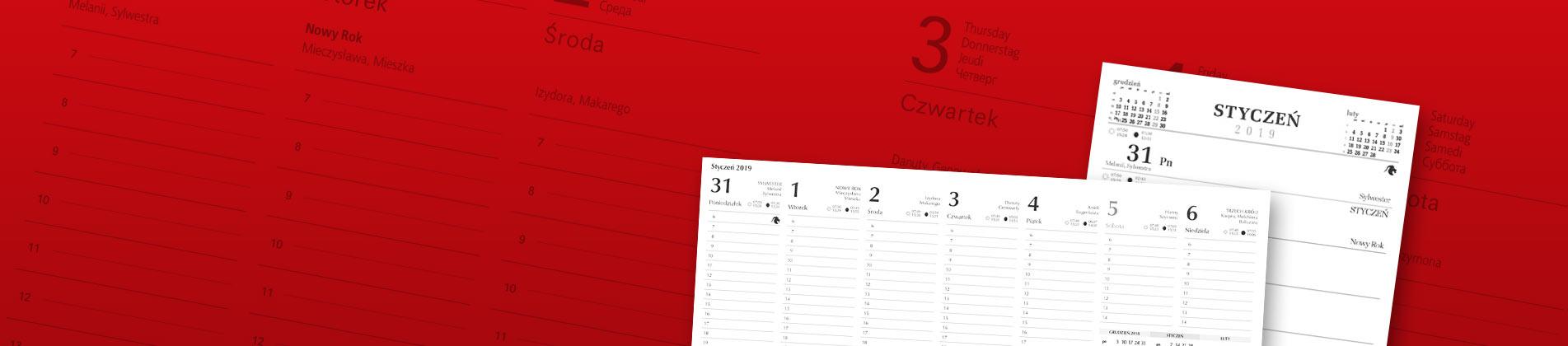 Kalendarze biurkowe | piramidki, biuwary