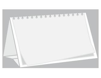 Kalendarze biurkowe wieloplanszowe z indywidualnym zadrukiem w opcji panoramicznej