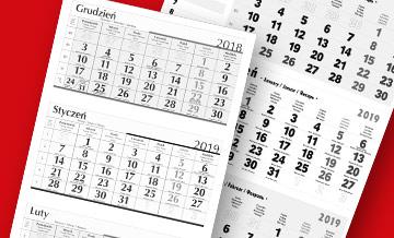 Kalendarze trójdzielne indywidualne na zamówienie