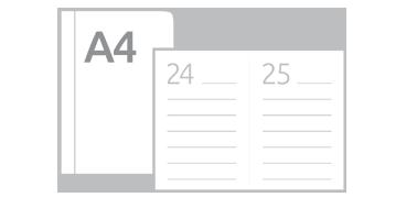 Kalendarze książkowe dzienne A4