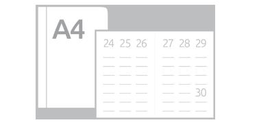 Kalendarze książkowe tygodniowe A4