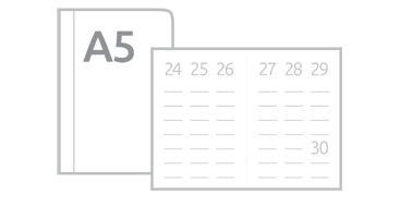 Kalendarze książkowe tygodniowe A5