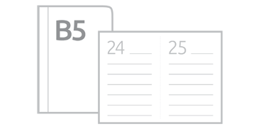 Kalendarze książkowe dzienne B5