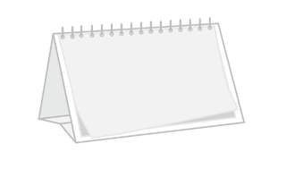 Kalendarze biurkowe panoramiczne z indywidualnym zadrukiem