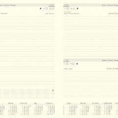 blok kalendarza A4 dzienny chamois