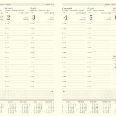 blok kalendarza A4 tygodniowy chamois z registrami