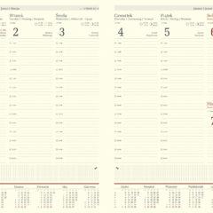 blok kalendarza A4 tygodniowy chamois
