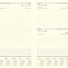 blok kalendarza - B5 dzienny chamois z registrami