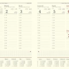 blok kalendarza - B5 tygodniowy chamois z registrami