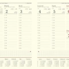 blok kalendarza - B5 tygodniowy chamois