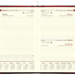 blok kalendarza - A5 dzienny chamois