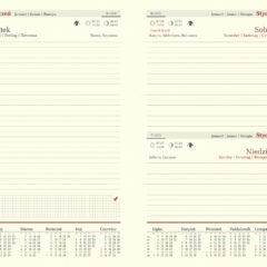 blok kalendarza - A5 dzienny chamois z registrami