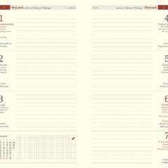 blok kalendarza - A6 tygodniowy chamois