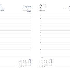 blok kalendarza - B6 dzienny biały z registrami