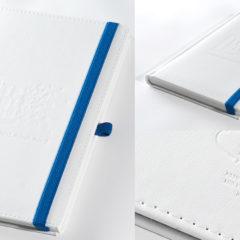 Indywidualne notesy reklamowe w białej oprawie