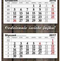 Trójdzielne kalendarze reklamowe - projekt indywidualny