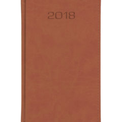 Kalendarz książkowy A6 oprawa Classic - brązowa