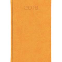 Kalendarz książkowy A6 oprawa Classic - miodowa