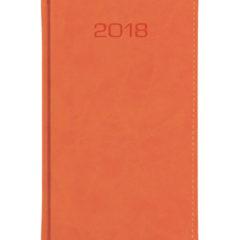 Kalendarz książkowy A6 oprawa Classic - pomarańczowa