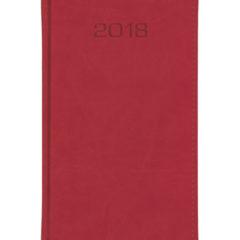 Kalendarz książkowy A6 oprawa Classic - czerwona