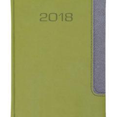 Kalendarz książkowy Bi Color - vivela jasnozielony + cross grafitowy