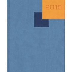 Kalendarz książkowy Bi Color - vivela jasnoniebieska, granatowa i miodowa