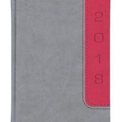 Kalendarz książkowy Bi Color - vivela szara + nadir malinowy