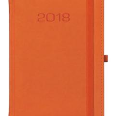 Kalendarz książkowy Classic z gumką - pomarańczowy