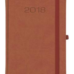 Kalendarz książkowy Classic z gumką - brązowy