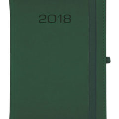 Kalendarz książkowy Classic z gumką - zielony