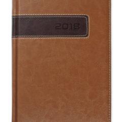 Kalendarz książkowy Combo Center brązowy