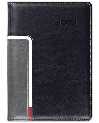 Kalendarz książkowy Combo Corner czarny / szary / biały / czerwony