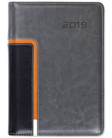 Kalendarz książkowy Combo Corner szary / czarny / pomarańcz / biały