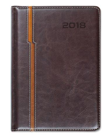 Kalendarz książkowy Combo Double brąz