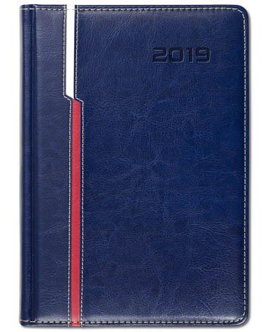 Kalendarz książkowy Combo Double granatowy / biały / czerwony