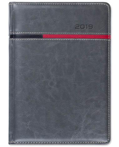 Kalendarz książkowy Combo Horizontal szary / czerwony / czarny