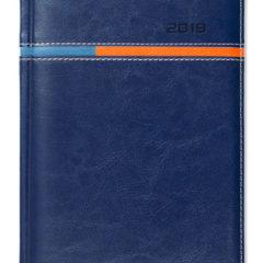 Kalendarz książkowy Combo Horizontal granatowy / pomarańczowy / niebieski