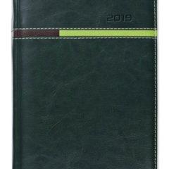 Kalendarz książkowy Combo Horizontal zielony / jasnozielony / brązowy