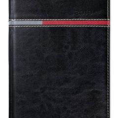 Kalendarz książkowy Combo Horizontal czarny / czerwony /szary