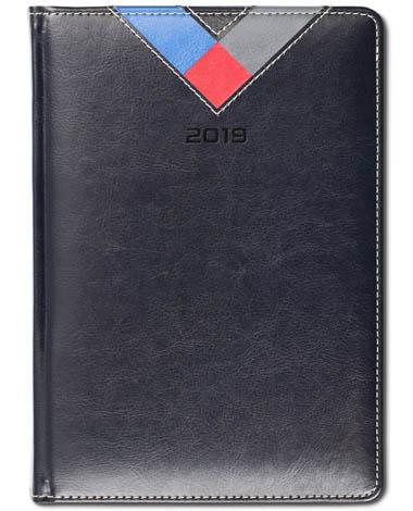Kalendarz książkowy Combo Triangle czarny / granat / czerwony / szary