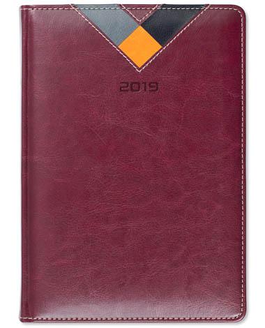 Kalendarz książkowy Combo Triangle bordo /szary / pomarańcz / czarny